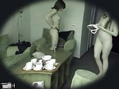 3 voyeur videos - Spy cam shooting naked babes going to dress